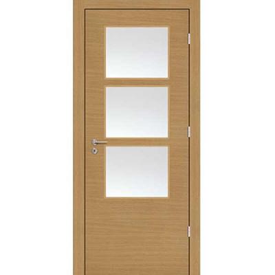 Porte SD CHÊNE HORIZONTAL  vitrée 90cm droite