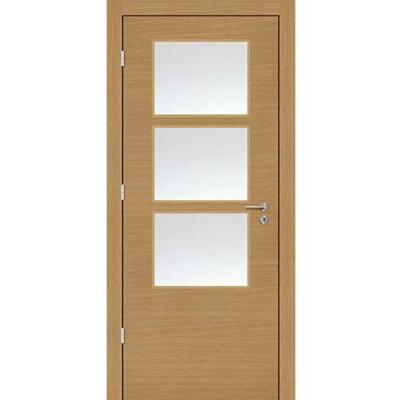 Porte  SD CHÊNE HORIZONTAL vitrée 90cm gauche
