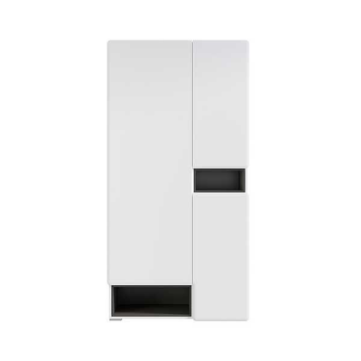 GARDE ROBE POSSI AIR 3PORTES GRIS ET BLANC BRILLANT