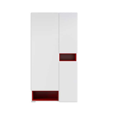 GARDE ROBE POSSI AIR 3PORTES ROUGE ET BLANC BRILLANT