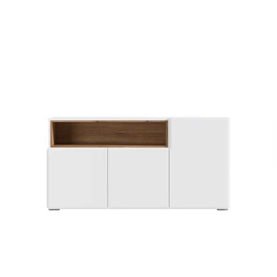 ARMOIRE POSSI AIR 3PORTES MELEZE ET BLANC BRILLANT