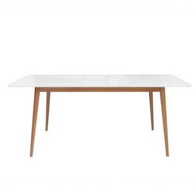 TABLE POSSI LIGHT EXTENSIBLE 145/185 MELEZE ET BLANC