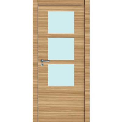 Porte 3D CHÊNE HORIZONTAL vitrée 90cm droite