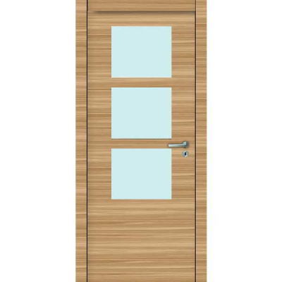 Porte 3D CHÊNE HORIZONTAL vitrée 90cm gauche