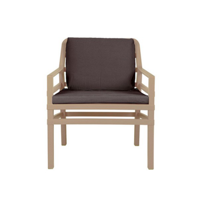 Fauteuil ARIA avana+assises+coussin cafe