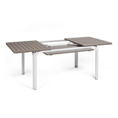 Table ALLORO 140 extensible Tortora/Blanc