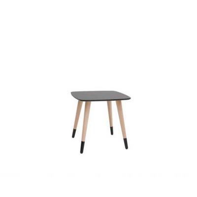 TABLE BASSE CARRE CHÊNE TX002 NOIR TX058
