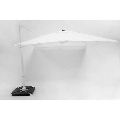 Parasol Roma Blanc 3x3m avec couverture