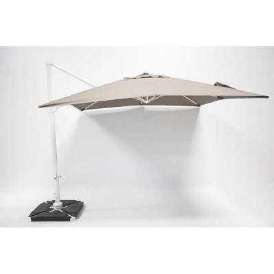 Parasol Roma Taupe 3x3m avec couverture