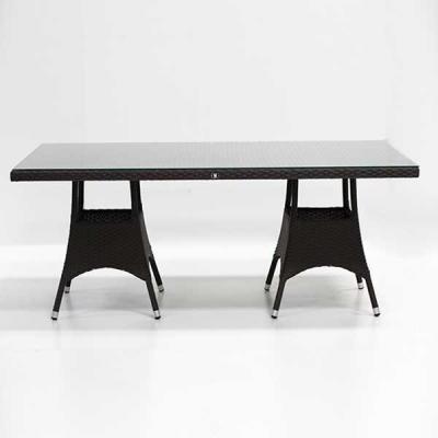 TABLE TREFLE MOCCA 180X90 H74 cm