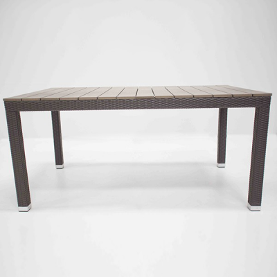 TABLE URBAIN TAUPE/MOCCA 160X92 H76 CM