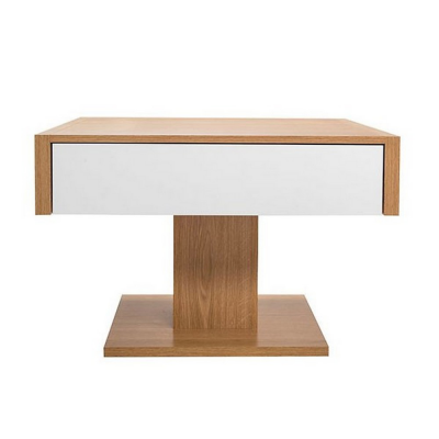 TABLE BASSE VIRTUS AVEC TIROIR BLANC BRILLANT