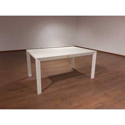 TABLE EXTENSIBLE SQUARE BLANC 100X151