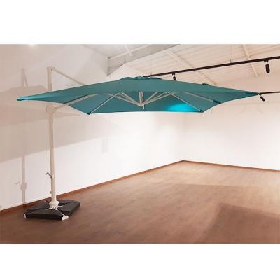 Parasol ROMA 3X3 bleu avec couverture