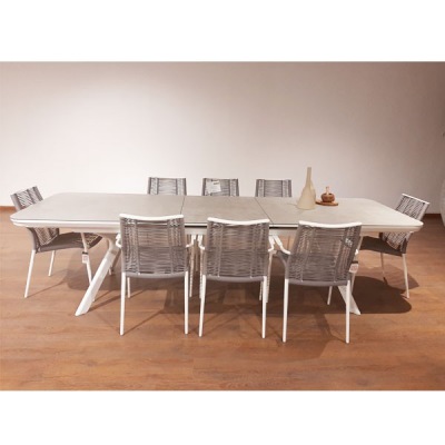 Table extensible auto SEVEN Blanc