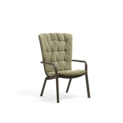 Fauteuil FOLIO TABACCO + Coussin Vert Felce