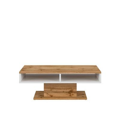 TABLE BASSE ALAMO CHÊNE WOTAN/BLANC