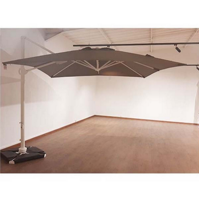 PARASOL ROMA 3X3 TAUPE AC COUV