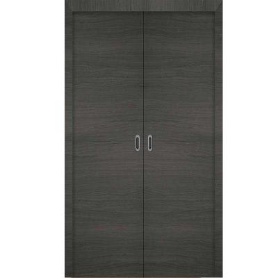 Porte  3D GRIS coulissante double 140cm
