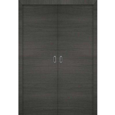 Porte 3D GRIS coulissante double 160cm