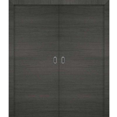 Porte  3D GRIS coulissante double 180cm
