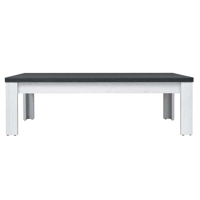 TABLE BASSE ANTWERPEN MELEZE CLAIR PIN NOIR