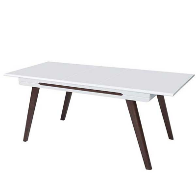 TABLE ULTRA BLANC BRILLANT WENGE