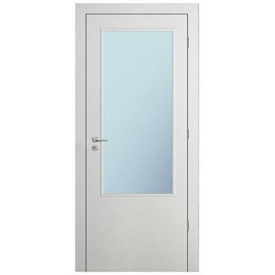 Porte HD BLANC INLAY IG2H vitrée 90cm droite