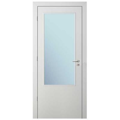 Porte HD BLANC INLAY IG2H vitrée 90cm gauche