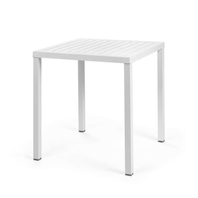 Table CUBE 70x70 Blanc/Blanc