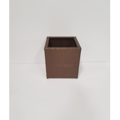 FLOWER POT RECTANGLE BRONZE 52X52 H55 cm