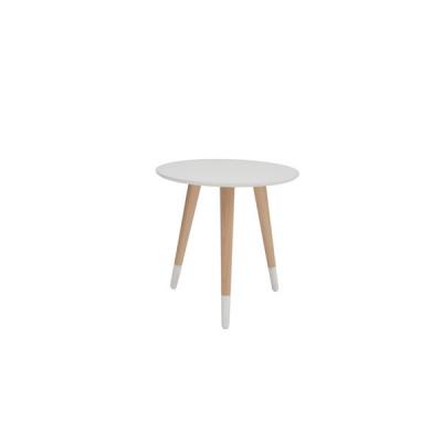 TABLE BASSE RONDE CHÊNE TX002 BLANC TX057