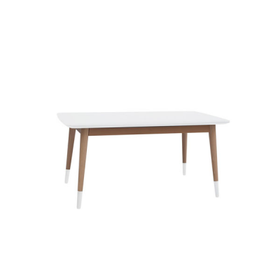 TABLE BASSE RECTANGLE CHÊNE TX002 BLANC TX057