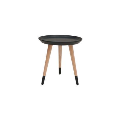 TABLE BASSE OVALE CHÊNE TX002 NOIR TX058
