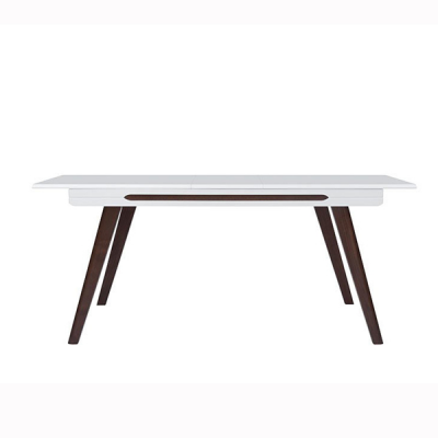 TABLE ULTRA EXTENSIBLE BLANC BRILLANT