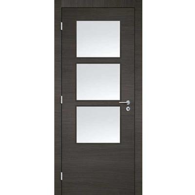 Porte 3D GRIS vitrée 90cm gauche