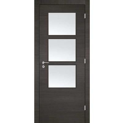 Porte 3D GRIS vitrée 90cm droite
