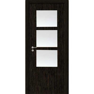 Porte SD WENGE vitrée 90cm droite