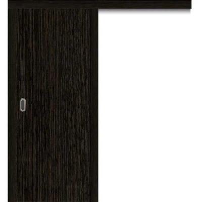 Porte SD WENGE coulissante apparente 80cm droite