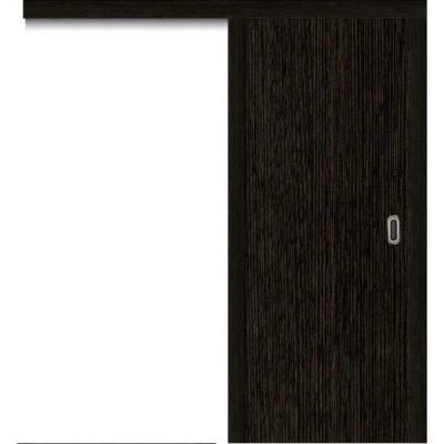 Porte SD WENGE coulissante apparente 80cm gauche