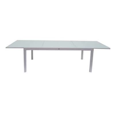 TABLE CRYSTAL 200-300 EXTENSIBLE WHITE