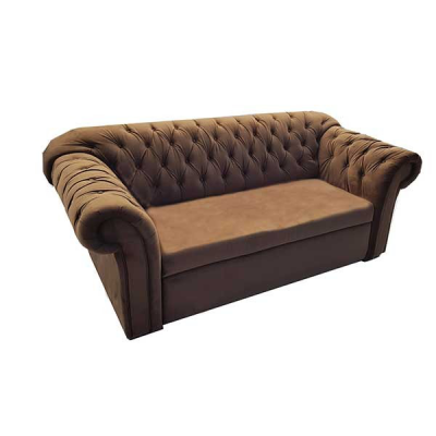 CANAPE CUPIDO 2 PLACES MARRON CLAIR VELVET M4184G